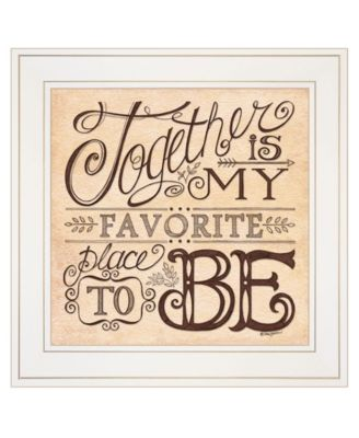 """Together by Deb Strain, Ready to hang Framed Print, White Frame, 15"""" x 15"""""""