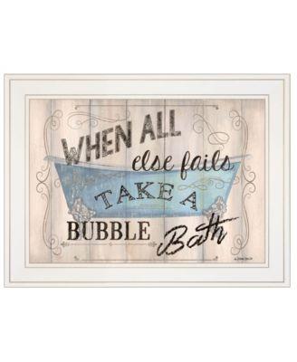 "Bathroom Humor by Debbie DeWitt, Ready to hang Framed print, White Frame, 19"" x 15"""