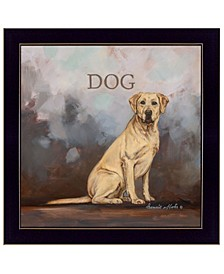 "Dakota the Dog by Bonnie Mohr, Ready to hang Framed Print, Black Frame, 14"" x 14"""