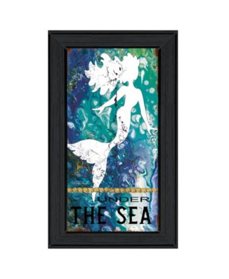 """Under the Sea by Cindy Jacobs, Ready to hang Framed Print, Black Frame, 11"""" x 19"""""""