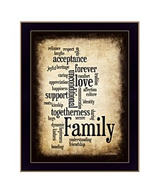 """Family By Susan Boyle, Printed Wall Art, Ready to hang, Black Frame, 14"""" x 20"""""""