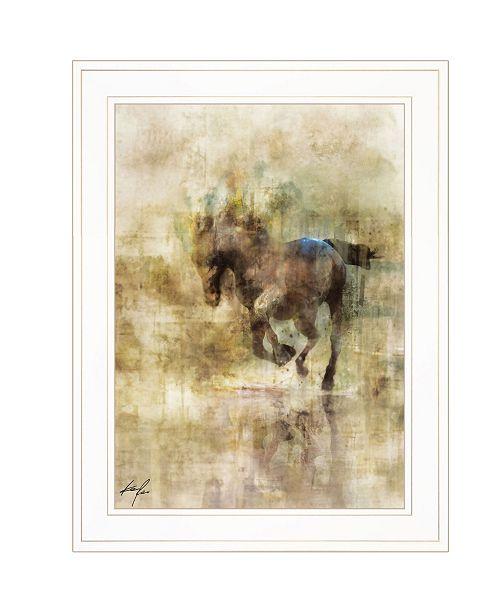 "Trendy Decor 4U Trendy Decor 4U Horse Dash II by Ken Roko, Ready to hang Framed Print, White Frame, 15"" x 19"""