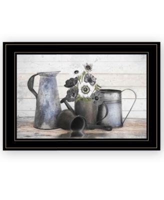 Floral Farmhouse I by Robin-Lee Vieira, Ready to hang Framed Print, White Frame, 21
