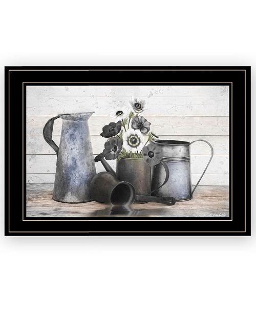 "Trendy Decor 4U Trendy Decor 4U Floral Farmhouse I by Robin-Lee Vieira, Ready to hang Framed Print, Black Frame, 21"" x 15"""