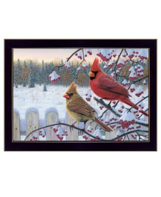 Cardinals by Kim Norlien, Ready to hang Framed Print, White Frame, 20