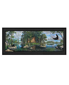"""Freedom's Promise Trilogy by Kim Norlien, Ready to hang Framed Print, Black Frame, 39"""" x 15"""""""