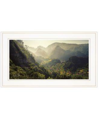 """Land of the Hobbits Martin Podt, Ready to hang Framed Print, White Frame, 21"""" x 12"""""""