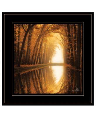 "Lochem Reflections by Martin Podt, Ready to hang Framed Print, Black Frame, 15"" x 15"""