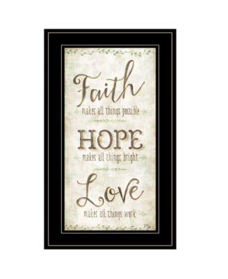 """Faith by Mollie B, Ready to hang Framed Print, Black Frame, 12"""" x 21"""""""