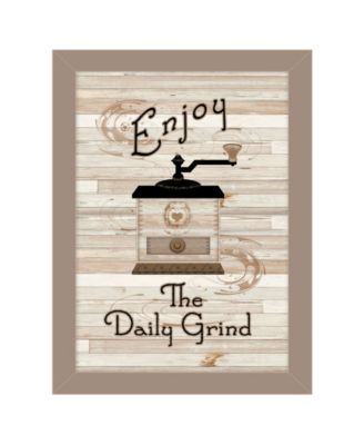 """The Daily Grind by Millwork Engineering, Ready to hang Framed Print, Taupe Frame, 10"""" x 14"""""""