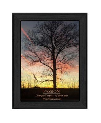 "Passion By Trendy Decor4U, Printed Wall Art, Ready to hang, Black Frame, 14"" x 10"""