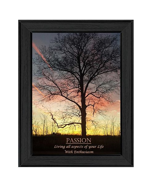 "Trendy Decor 4U Trendy Decor 4U Passion By Trendy Decor4U, Printed Wall Art, Ready to hang, Black Frame, 14"" x 10"""