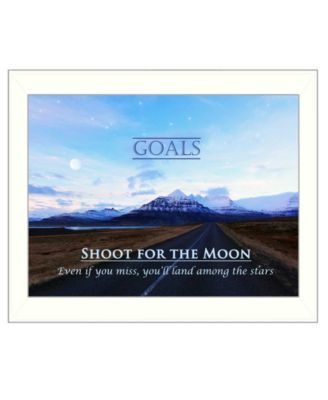 """Goals By Trendy Decor4U, Printed Wall Art, Ready to hang, White Frame, 14"""" x 18"""""""