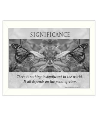 """Significance By Trendy Decor4U, Printed Wall Art, Ready to hang, White Frame, 14"""" x 18"""""""