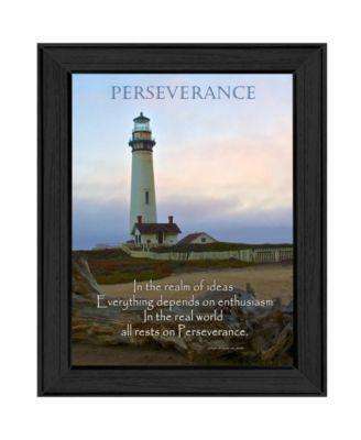 "Perseverance By Trendy Decor4U, Printed Wall Art, Ready to hang, Black Frame, 15"" x 19"""