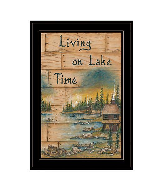 "Trendy Decor 4U Trendy Decor 4U Living On The Lake by Mary June, Ready to hang Framed Print, Black Frame, 15"" x 21"""
