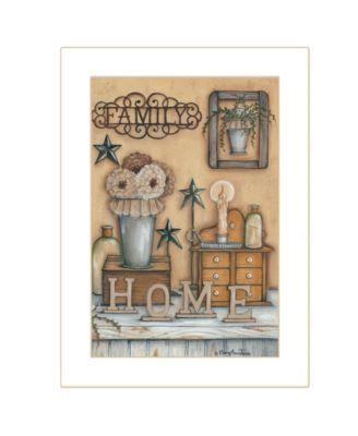 Family by Mary Ann June, Ready to hang Framed Print, Black Frame, 14