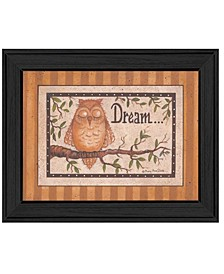 "Trendy Decor 4U Dream By Mary June, Printed Wall Art, Ready to hang, Black Frame, 18"" x 14"""