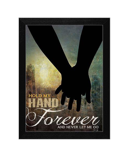"Trendy Decor 4U Trendy Decor 4U Hold My Hand Forever By Marla Rae, Printed Wall Art, Ready to hang, Black Frame, 14"" x 10"""