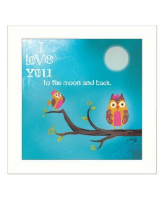 """To the Moon II By Marla Rae, Printed Wall Art, Ready to hang, White Frame, 14"""" x 14"""""""
