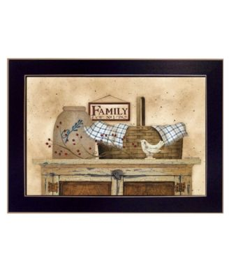 """Family Still Life By Linda Spivey, Printed Wall Art, Ready to hang, Black Frame, 20"""" x 14"""""""