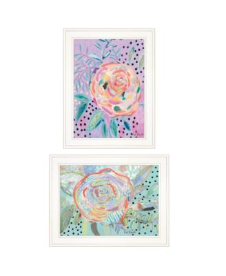 """Bloom for Yourself 2-Piece Vignette by Kait Roberts, White Frame, 15"""" x 19"""""""