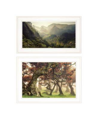 "The Land of Hobbits 2-Piece Vignette by Martin Podt, White Frame, 21"" x 15"""
