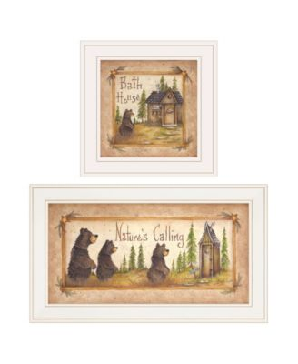 """Natures / Bath 2-Piece Vignette by Mary Ann June, White Frame, 13"""" x 19"""""""