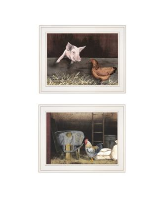 """Bacon Eggs 2-Piece Vignette by Billy Jacobs, White Frame, 19"""" x 15"""""""