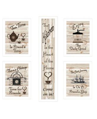 """Kitchen Friendship Collection 5-Piece Vignette by Millwork Engineering, White Frame, 10"""" x 32"""""""