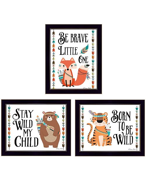 """Trendy Decor 4U Trendy Decor 4U Be Brave Little One Collection By Susan Boyer, Printed Wall Art, Ready to hang, Black Frame, 18"""" x 14"""""""