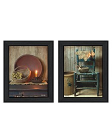 """Warm Home Setting Collection By Susan Boyer, Printed Wall Art, Ready to hang, Black Frame, 28"""" x 18"""""""