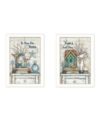 """Home Sweet Home Collection By Mary June, Printed Wall Art, Ready to hang, White Frame, 28"""" x 20"""""""