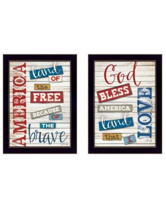 American Collection By Marla Rae, Printed Wall Art, Ready to hang, Black Frame, 30