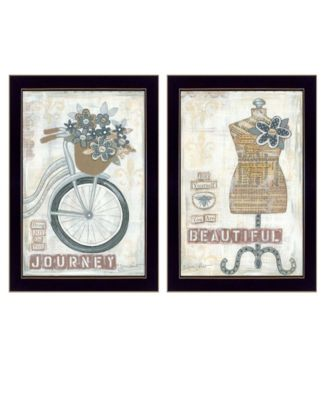 """Beautiful Journey Collection By Annie LaPoint, Printed Wall Art, Ready to hang, Black Frame, 28"""" x 20"""""""