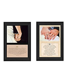 "Trendy Decor 4U Marriage Collection By B. Mohr and J. Spivey, Printed Wall Art, Ready to hang, Black Frame, 20"" x 14"""