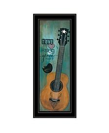 "Trendy Decor 4U Tune My Heart by Tonya Crawford, Ready to hang Framed Print, Black Frame, 9"" x 21"""
