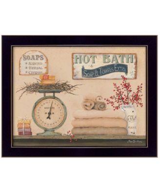 "Hot Bath By Pam Britton, Printed Wall Art, Ready to hang, Black Frame, 18"" x 14"""