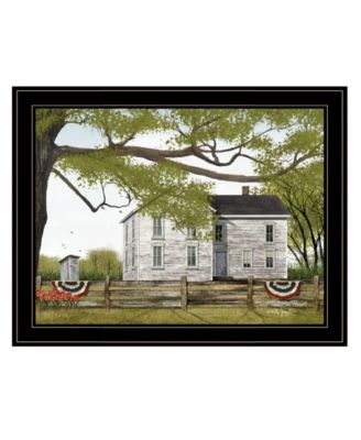 """Sweet Summertime House by Billy Jacobs, Ready to hang Framed Print, Black Frame, 27"""" x 21"""""""