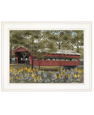 """Pottersburg Bridge by Billy Jacobs, Ready to hang Framed Print, White Frame, 19"""" x 15"""""""