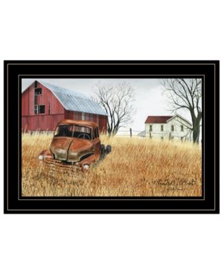 """Granddad's Old Truck by Billy Jacobs, Ready to hang Framed Print, Black Frame, 21"""" x 15"""""""
