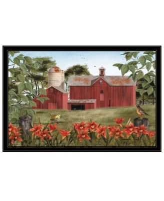 """Summer Days by Billy Jacobs, Ready to hang Framed Print, Black Frame, 38"""" x 26"""""""