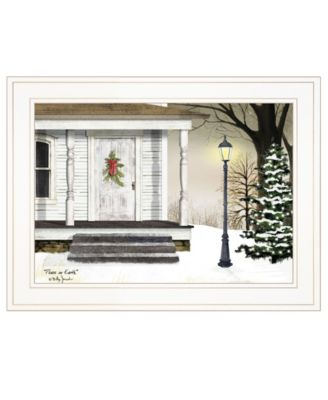 """Peace on Earth by Billy Jacobs, Ready to hang Framed Print, White Frame, 19"""" x 15"""""""