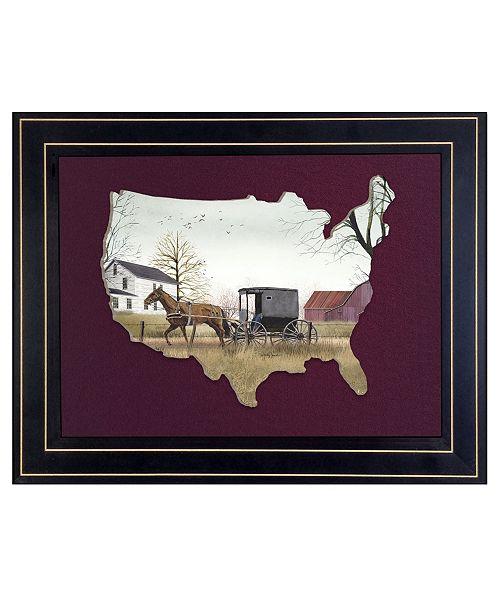"Trendy Decor 4U Trendy Decor 4U Goin to Market by Billy Jacobs, Ready to hang 3D Framed Print, Black Frame, 19"" x 15"""