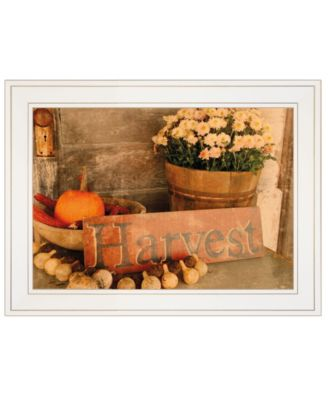 """Autumn Harvest by Anthony Smith, Ready to hang Framed Print, White Frame, 19"""" x 15"""""""