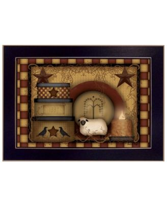 """Primitive Starberry By Carrie Knoff, Printed Wall Art, Ready to hang, Black Frame, 14"""" x 10"""""""