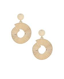 Textured Swirl Gold Drop Earrings