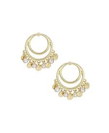 Cutout Charm Dangle Earrings