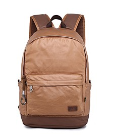 Women's Urban Light Coated Canvas Backpack