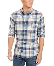 Men's Mason Regular-Fit Plaid Utility Shirt